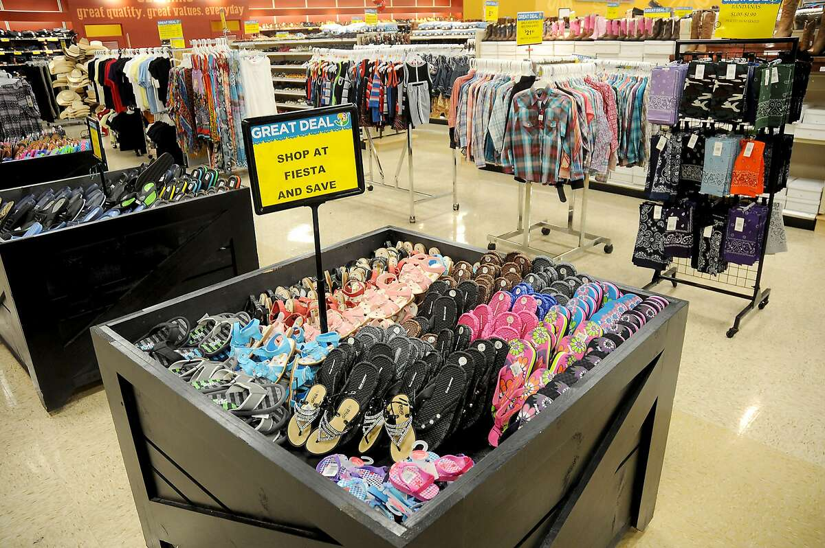 The clothing department at the Fiesta Mart at 12355 Main St.