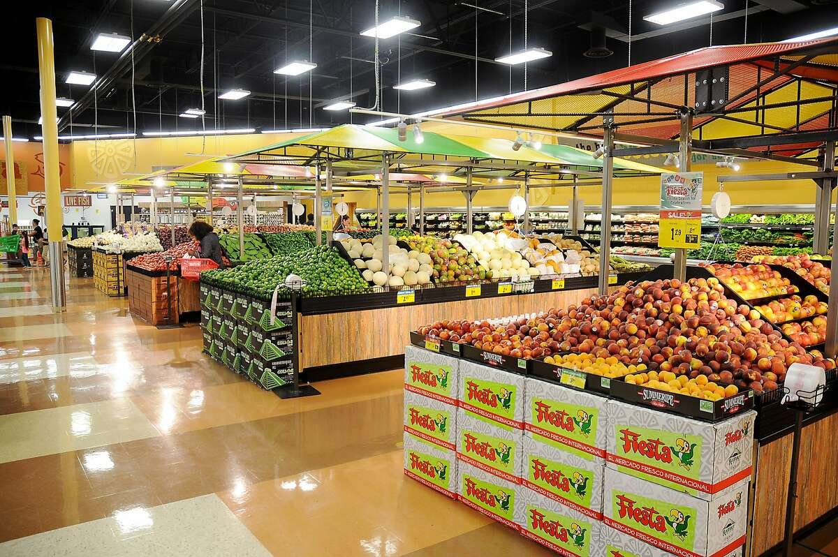 The produce department at the Fiesta Mart at 12355 Main St.