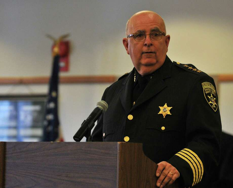 Saratoga County Sheriff Michael H. Zurlo says the felony charge for school threats sends a message that the issue is not one taken lightly. (Brittany Gregory / Special to the Times Union) Photo: Brittany Gregory, Albany Times Union / 10035799A
