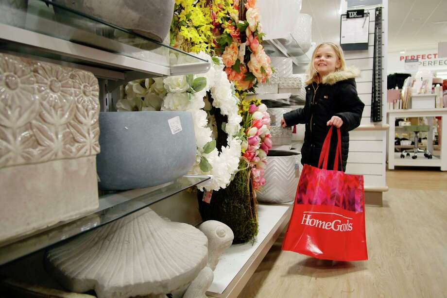 Isabella Caruso, 6, of Castleton shops for a wreath for her family's front door at the grand opening of the fourth HomeGoods store in the Capital Region on Sunday, March 25, 2018, in North Greenbush, N.Y. This newest 22,271 square-foot store is located in Van Rensselaer Square. During the grand opening event, HoodGoods donated $10,000 to St. Paul's Center in Troy.   (Paul Buckowski/Times Union) Photo: PAUL BUCKOWSKI / (Paul Buckowski/Times Union)