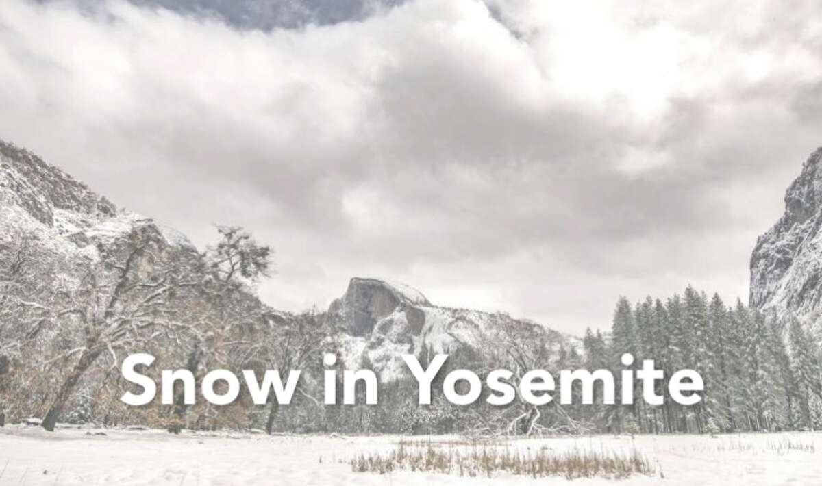Yosemite National Park was hit with snow at different points this winter, to beautiful effect. Here are images of the snow that hit the popular national park this year.