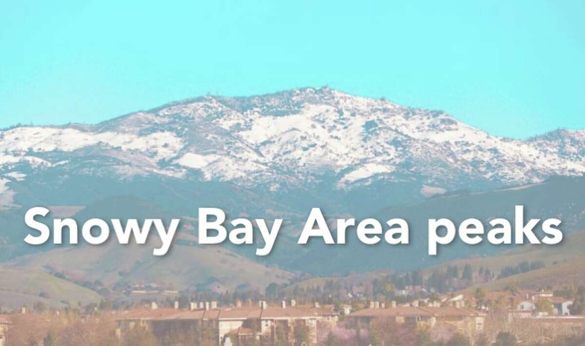 The Bay Area is rarely hit with snow, but when the peaks do manage to get a dusting, the result is spectacular. Here are photos of the recent snow on Bay Area peaks this past winter.