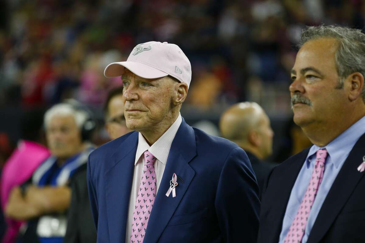 Houston Texans owner Bob McNair stands on the sideline before the team's game agains the Kansas City Chiefs at NRG Stadium on Sunday, Oct. 8, 2017, in Houston. ( Brett Coomer / Houston Chronicle )