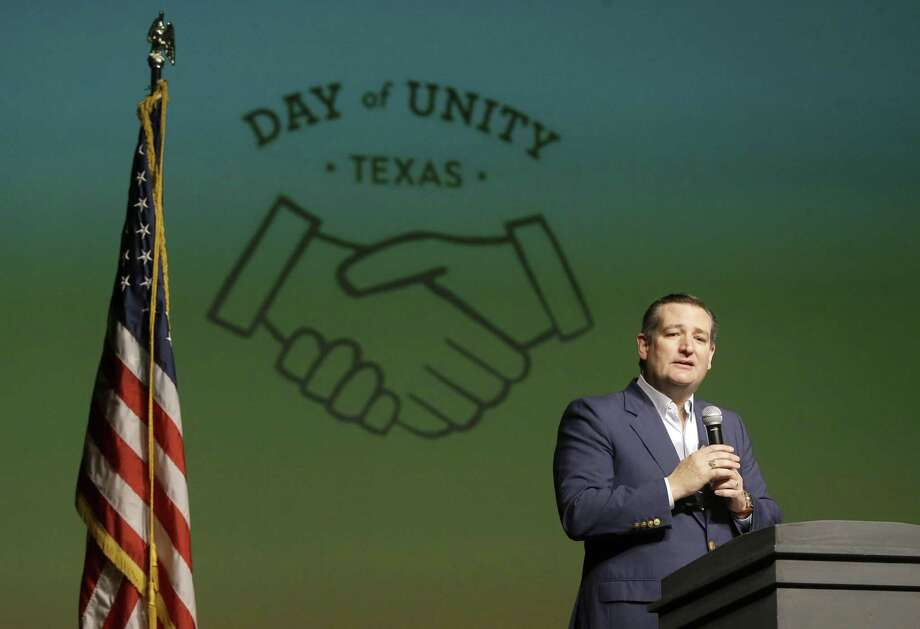 Sen. Ted Cruz speaks during the Day of Unity event held at Bellaire High School, 5100 Maple St., Sunday, March 25, 2018, in Houston. ( Melissa Phillip / Houston Chronicle ) Photo: Melissa Phillip, Staff / Houston Chronicle / © 2018 Houston Chronicle