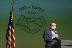 Sen. Ted Cruz speaks during the Day of Unity event held at Bellaire High School, 5100 Maple St., Sunday, March 25, 2018, in Houston. ( Melissa Phillip / Houston Chronicle )