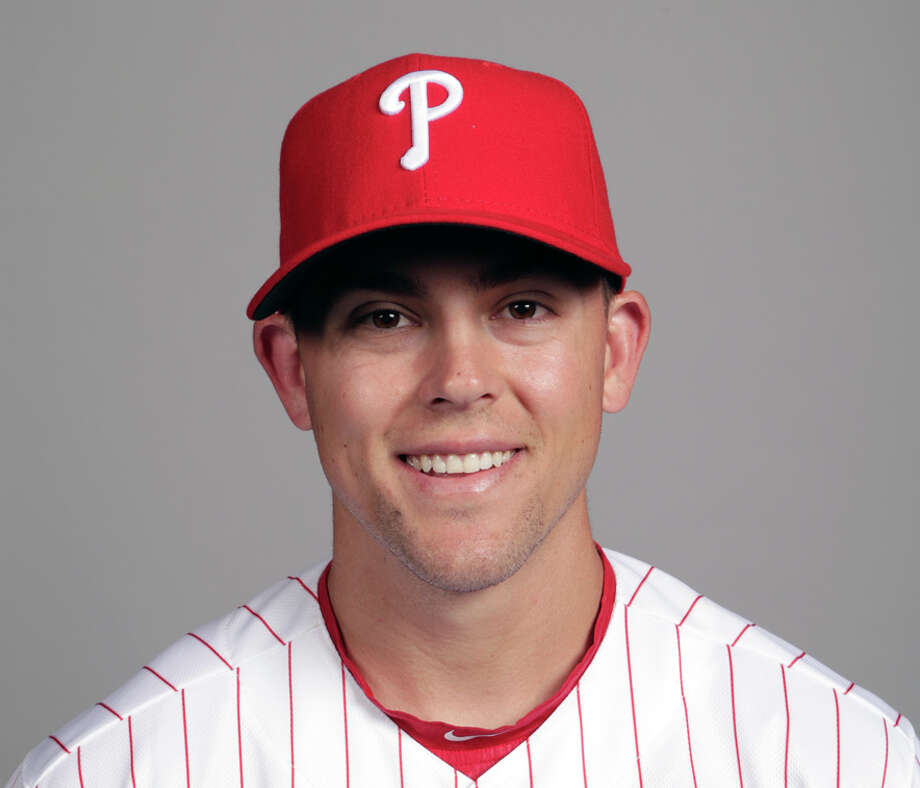 FILE - This is a Feb. 20, 2018, file photo showing Scott Kingery of the Philadelphia Phillies baseball team. Kingery has shown the Phillies he's ready to play in the majors even if it takes a bit longer for him to get there. Kingery is considered the top second-base prospect in baseball and already has been compared to Craig Biggio and Dustin Pedroia. But Cesar Hernandez is Philadelphia's starting second baseman so Kingery has been playing other positions in spring training.(AP Photo/Lynne Sladky, File) Photo: Lynne Sladky, STF / MLBPV AP