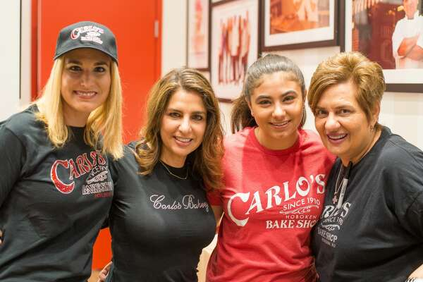 "Bartolo ""Buddy"" Valestro, star of the TLC show ""Cake Boss"" opening his San Antonio bakery to large hungry crowds Saturday, March 24, 2018, at The Shops at La Cantera. In addition to pastry treats, people at the opening of Carlo's Bakery were able to take photos with and get autographs from cast members of the reality TV show."
