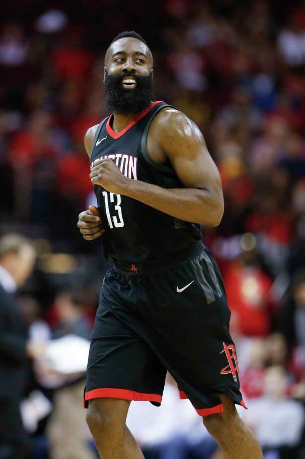 Guard James Harden posted his fourth triple-double of the season for the Rockets on Sunday night, totaling 18 points, 15 assists and 10 rebounds before sitting out the entire fourth quarter. Photo: Michael Ciaglo, Houston Chronicle / Michael Ciaglo