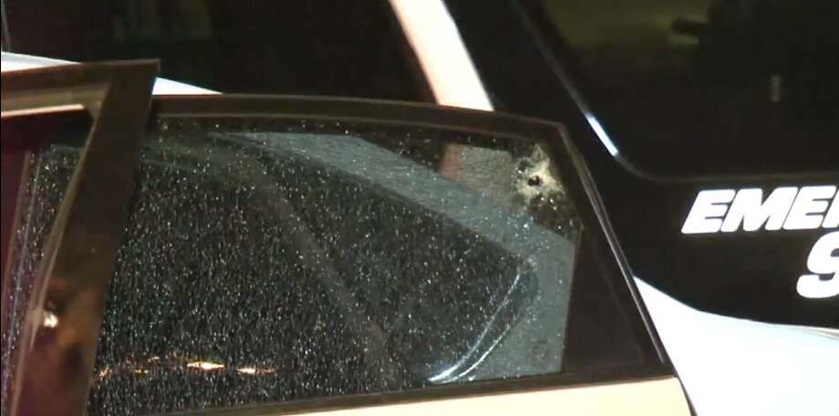 A 9-month-old and a man were shot Sunday, March 25, 2018, outside of a barber shot near Alderson and Freeport. The baby was shot through a car while sitting in the backseat. Photo: Metro Video