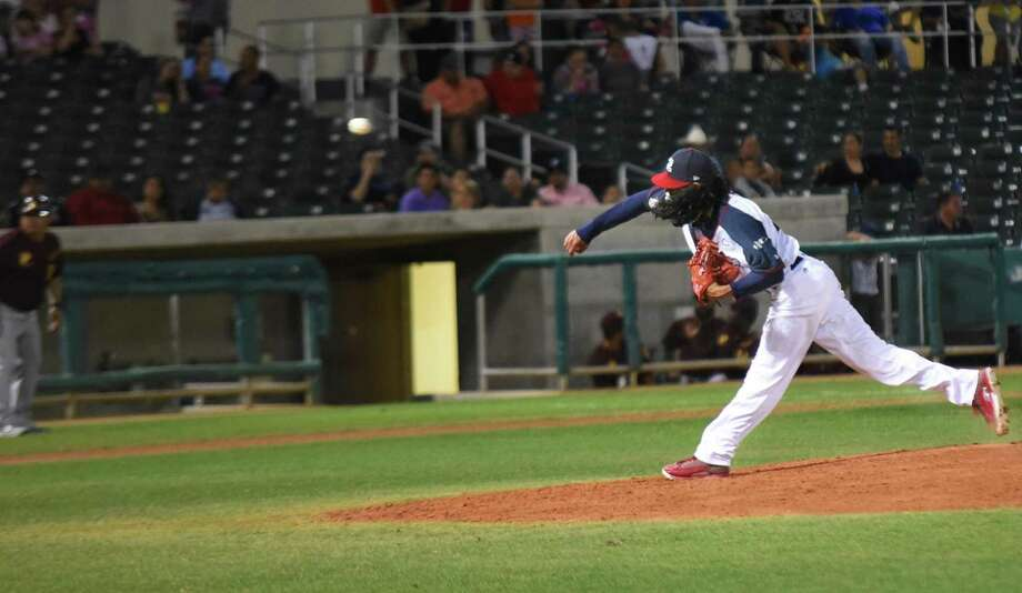 Terance Marin allowed three runs off two home runs in the fifth inning before getting ejected Thursday. Photo: Christian Alejandro Ocampo /Laredo Morning Times File / Laredo Morning Times