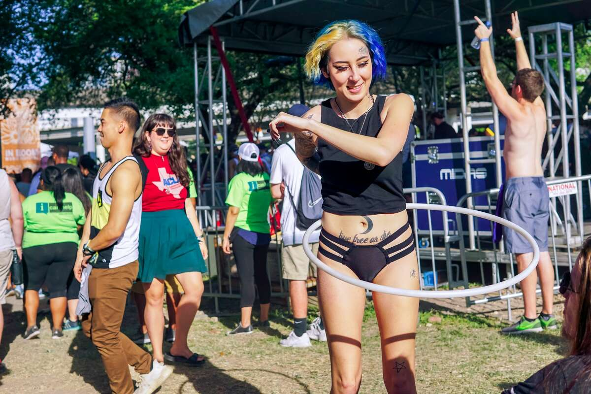 Day two of the inaugural In Bloom Music Festival wrapped up at Eleanor Tinsley Park on March 25th, 2018 in Houston, Texas. (Photo by Marco Torres/Freelance)