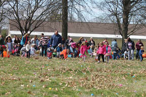 The Edwardsville Knights of Columbus conducted its annual Easter egg hunt on Sunday at the K. of C. Hall on Marine Road. Youngsters had a an opportunity to meet the Easter Bunny, take part in arts and crafts and then go outside for the egg hunt, which was open to children up to age 10.