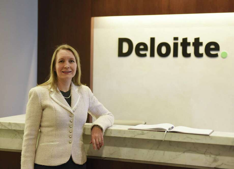Deloitte Stamford Managing Partner Heather Ziegler poses at the company's offices at 695 E. Main St., in downtown Stamford, Conn., on Thursday, March 8, 2018. Photo: Tyler Sizemore / Hearst Connecticut Media / Greenwich Time