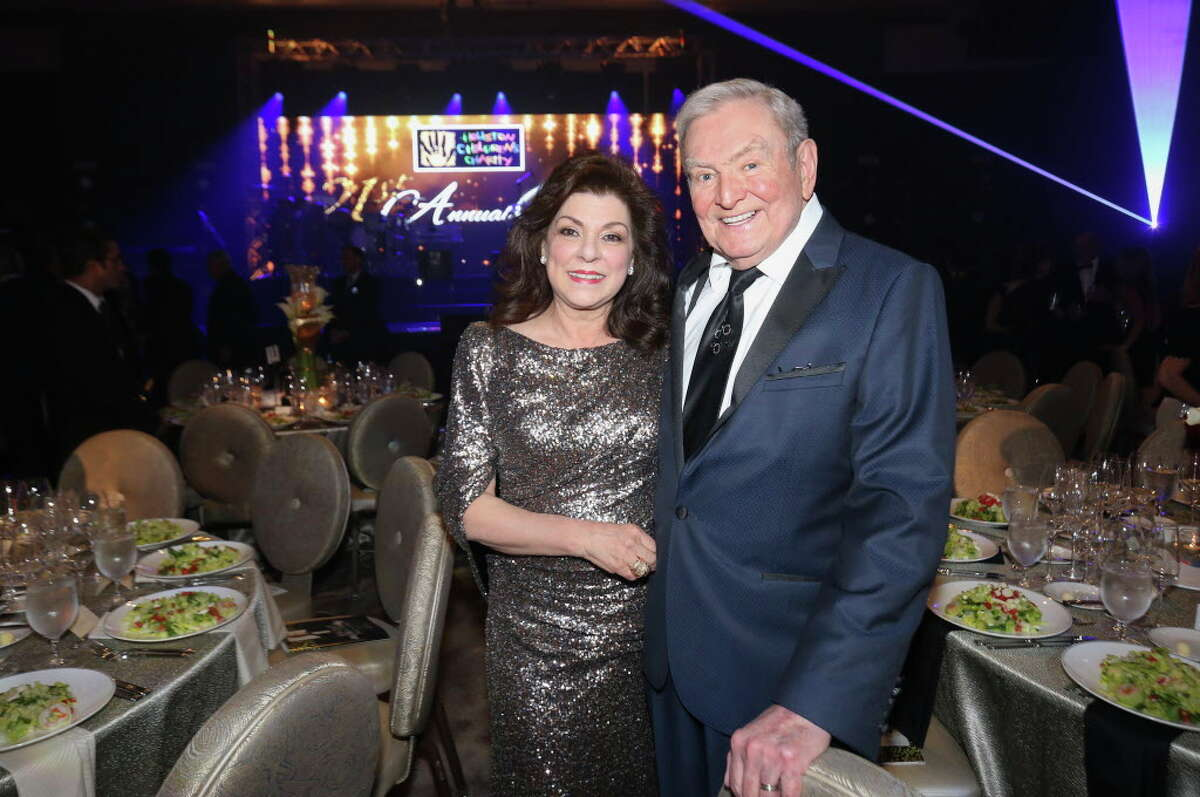 Laura and Dave Ward pose for a photograph at the Houston Children's Charity 21st Annual Gala at Post Oak Hotel on Friday, March 23, 2018, in Houston.