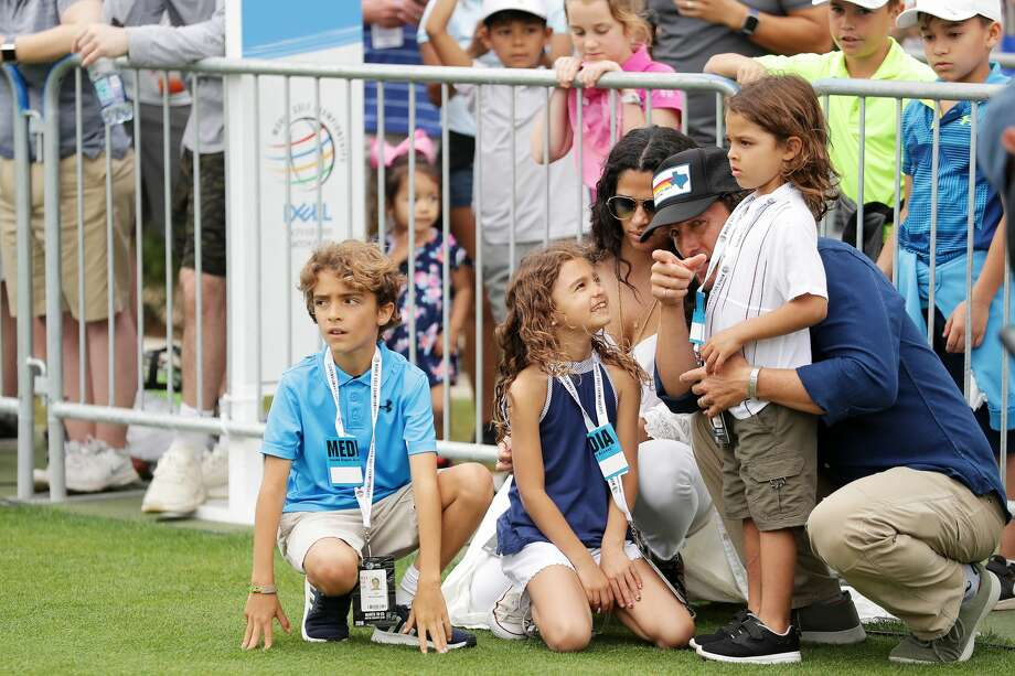 Matthew McConaughey, Camila Alves and their children Levi, Vida and Livingston attend the final round of the World Golf Championships-Dell Match Play Sunday, March 25, 2018, at Austin Country Club. Photo: Richard Heathcote/Getty Images