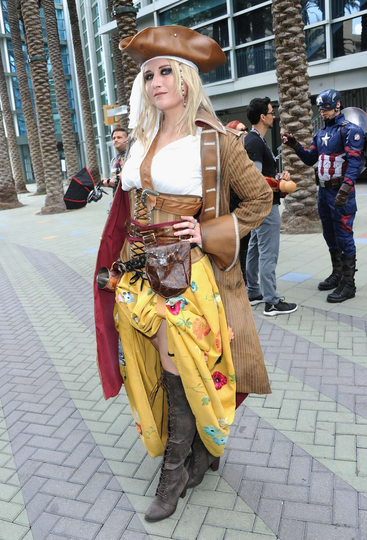 Cosplayers attend Day 1 of WonderCon held at Anaheim Convention Center on March 23, 2018 in Anaheim, California.