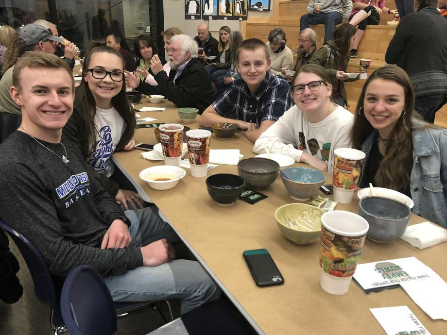 Empty Bowls: Braden McAfee, from left, Jordyn Whitson, Maddox Easley, Caroline Hartzer and Audrey DeWoody Photo: Courtesy Photo