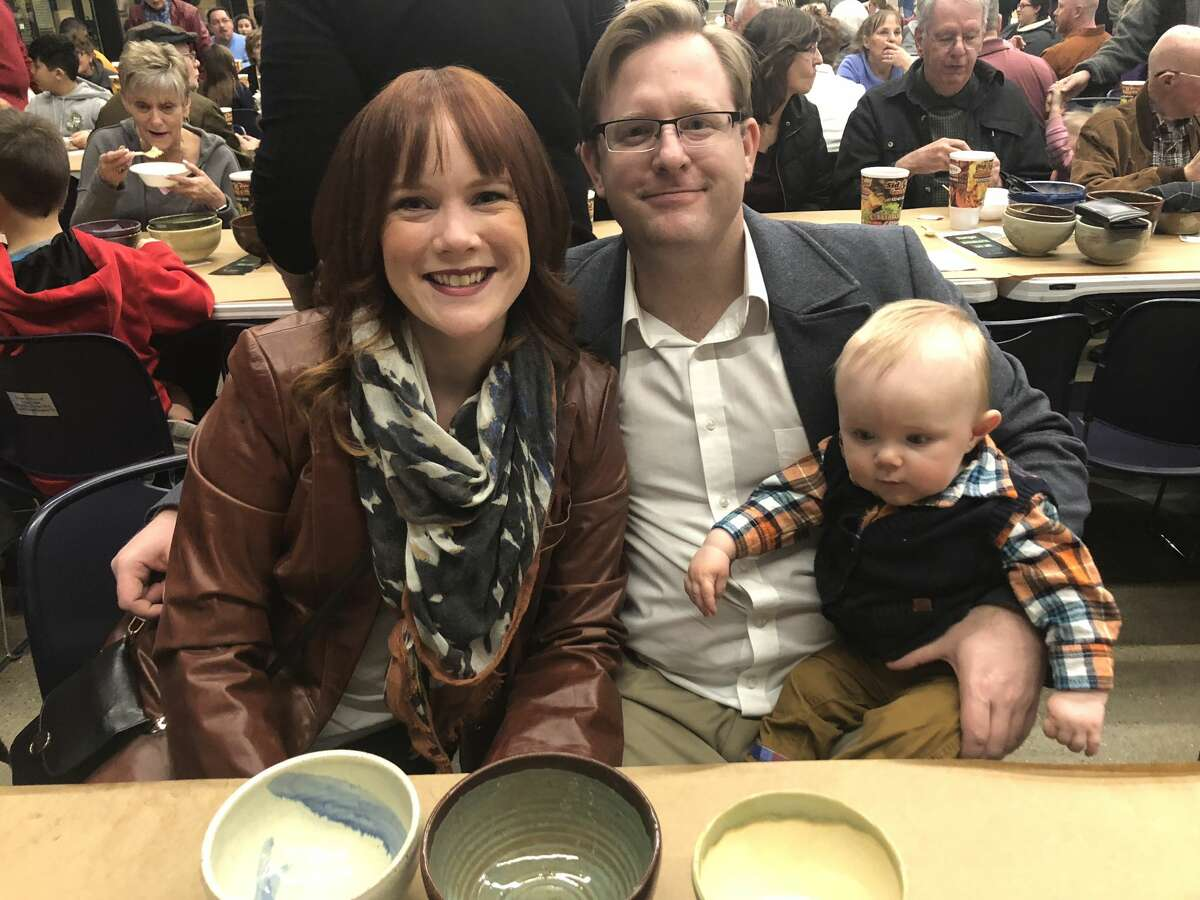 Empty Bowls: Melissa and James Rowland and Liam Rowland