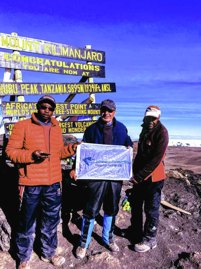 Dr Majid Sadigh on Mt. Kilimanjaro where he raised money for a microbiology lab at St. Francis Naggalama Hospital, one of the many places he partners with around the world through his Global Health Program. Tuesday, March 20, 2018, in Danbury, Conn. Photo: Contributed Photo / The News-Times / The News-Times Contributed