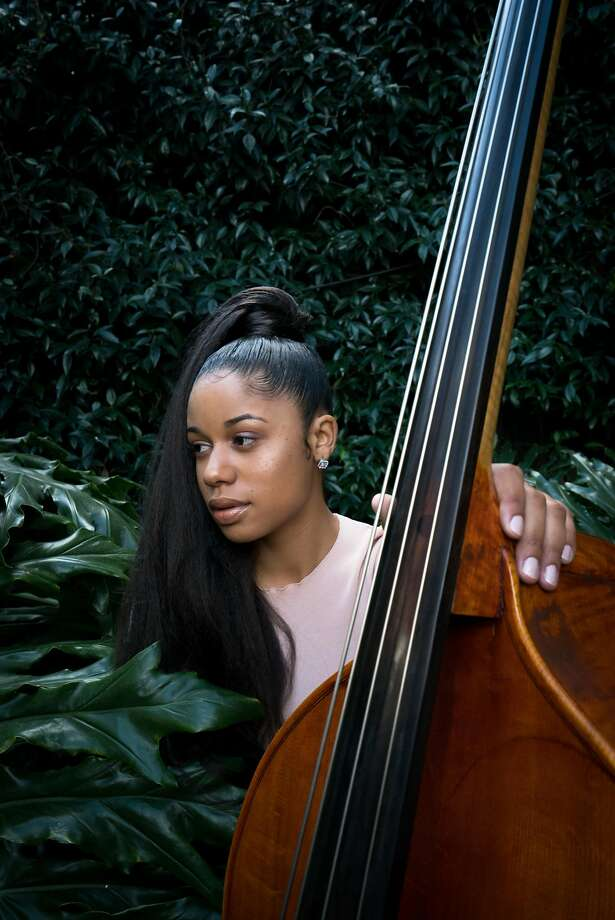 Stand-up bassist Aneesa Strings is recording a new album. Photo: Sarahbeth Maney, Special To The Chronicle