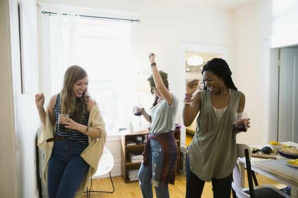 A stock photo of women dancing.