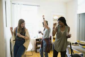 A stock photo of women dancing.