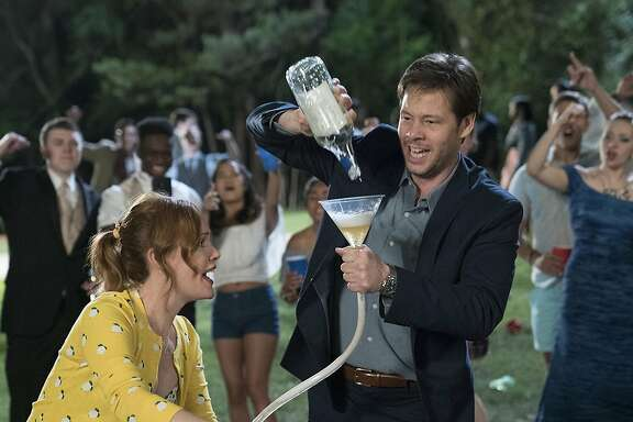 "Leslie Mann and Ike Barinholtz in ""Blockers."" (Quantreel D. Colbert)"