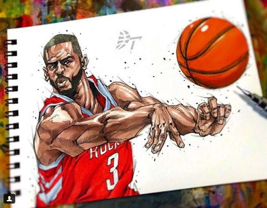 Check Out These Insane Drawings Of Nba Players Houston Chronicle