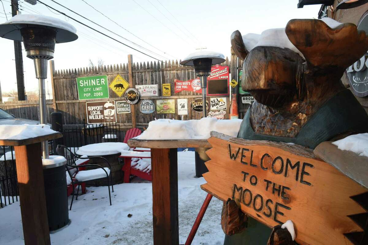 Patio area at the Tipsy Moose on Wednesday, Jan. 3, 2018 in Latham.