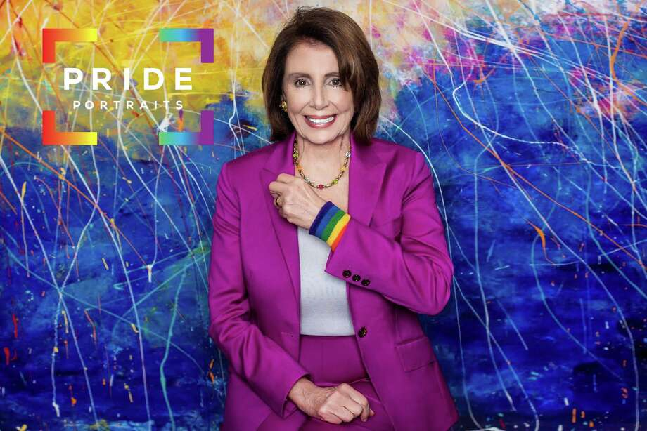 House Minority Leader Nancy Pelosi is one of the approximately 3,000 people Pride Portraits has photographed in support of LGBTQIA& visibility and rights. Pride Portraits will unveil its new pride mural April 5 at Jenni's Noodle House in the Heights. Photo: Courtesy Photo