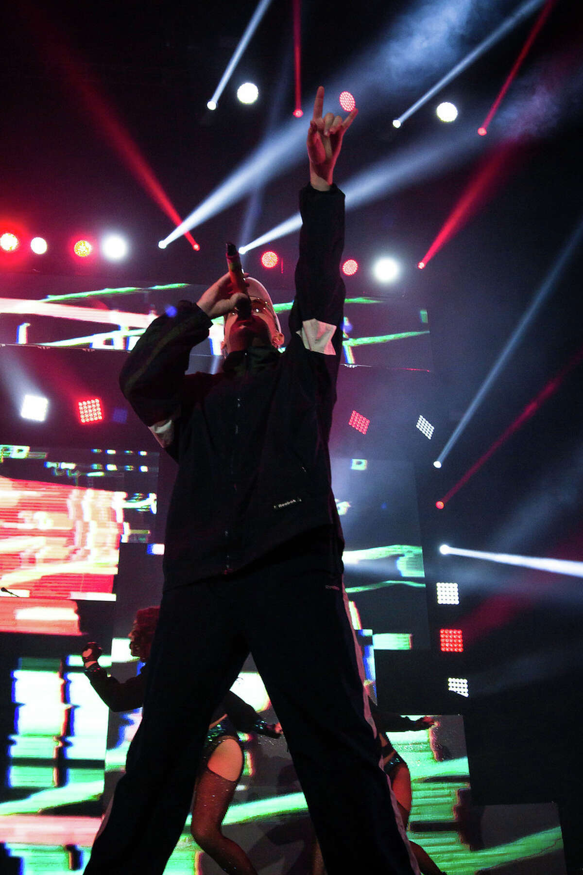 Latin trap and reggaeton artist, Bad Bunny, put on wild show at the Laredo Energy Arena on Sunday.