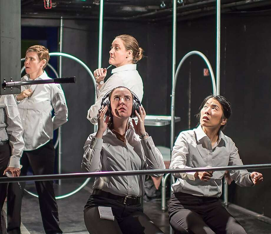 Lauri Smith (left), Melissa Clason, Isabelle Grimm and Shawn Oda. Photo: Robin Jackson, Theatre Lunatico