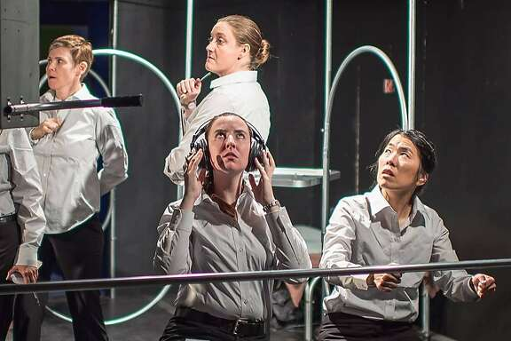 """From left:�Lauri Smith,Melissa Clason,�Isabelle Grimm and�Shawn Oda in Theatre Lunatico's """"Kursk."""""""