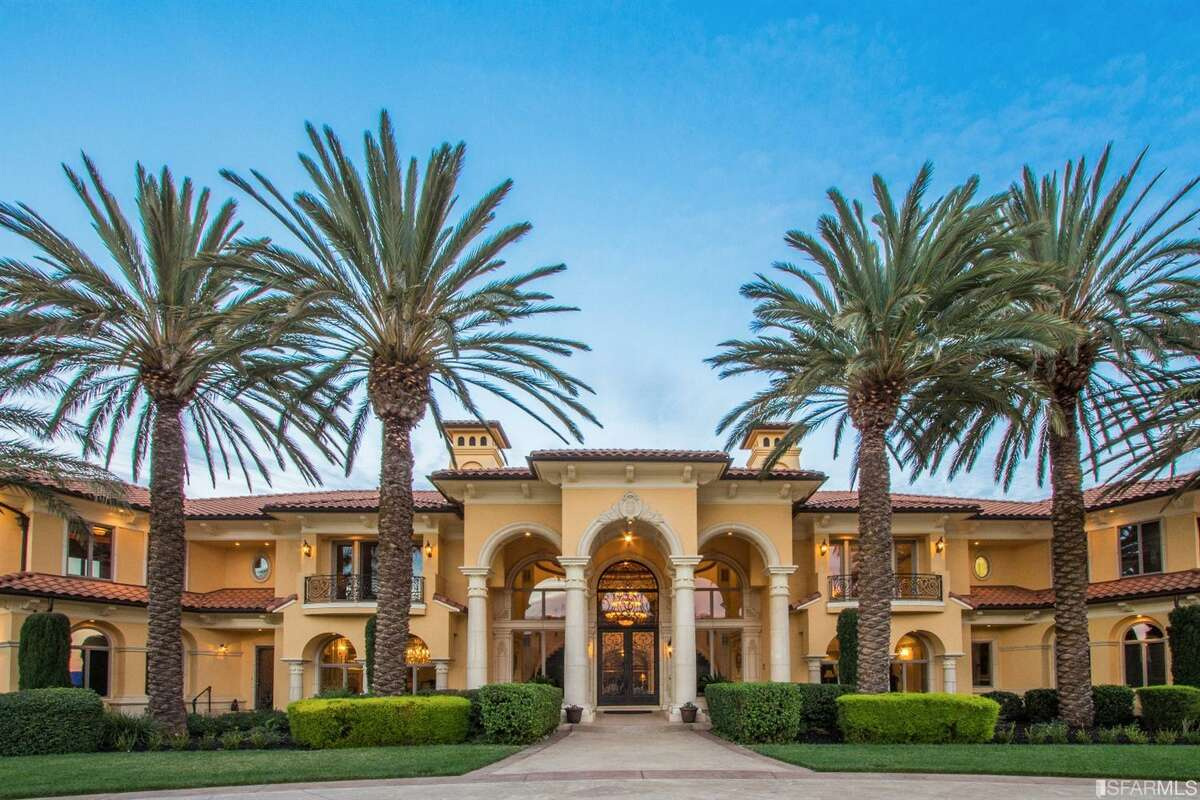 On 80 acres of fertile Fairfield land, Villa De Madre at 4286 Suisun Valley Rd. is listed for $12.9 million and features a custom-built estate, indoor pool, wine cave, elevation, four-bedroom caretaker's home and two car bars that can hold more than 100 cars.