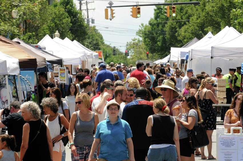 Nice weather brought a over flowing crowd to the 2016 Art on Lark presented by the Lark Street Business Improvement District on Saturday July 16, 2016 in Albany, N.Y. (Michael P. Farrell/Times Union)