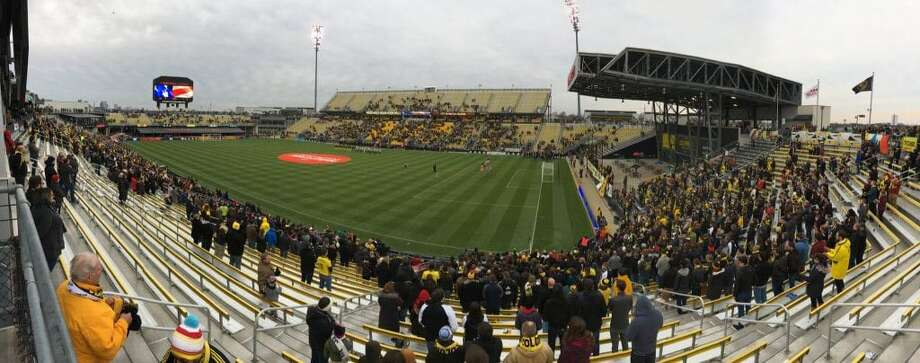 Plenty of good seats were available just before kickoff Saturday at chilly Mapfre Stadium. Photo: Washington Post Photo By Steven Goff. / The Washington Post