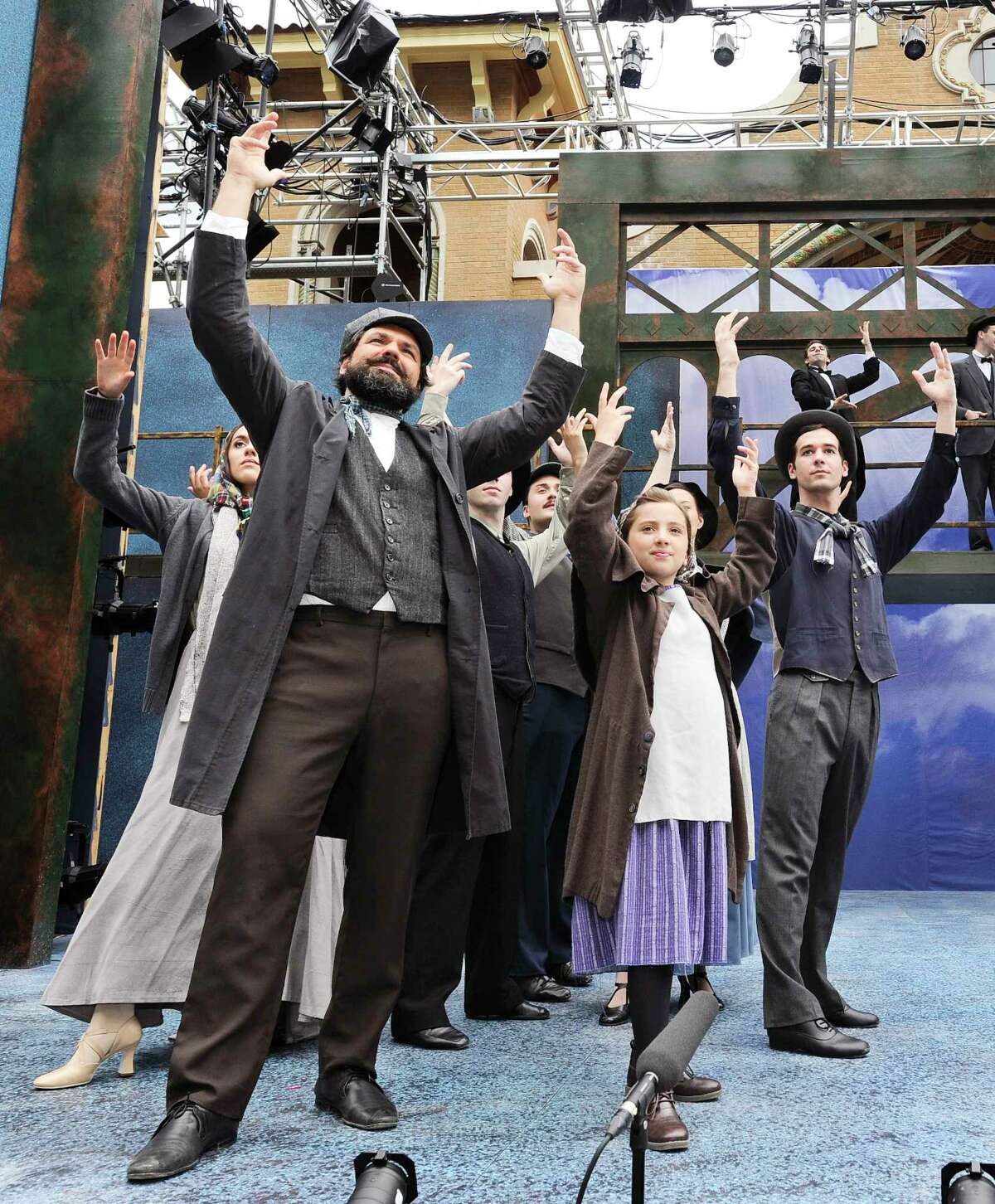 Cast members from the musical production