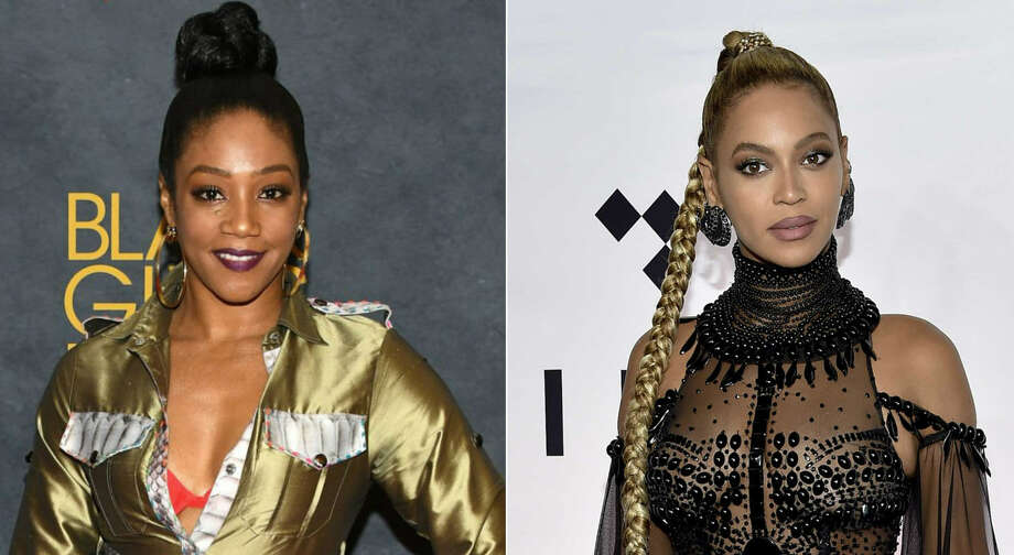 Comedian Tiffany Haddish met Beyoncé Knowles-Cater at a party and at that same party, Beyoncé was apparently bitten by an unknown actress. Continue through the photos to see the hilarious reactions trying to identify the unknown actress.  Photo: Dia Dipasupil/Getty Images For BET / Evan Agostini, Associated Press