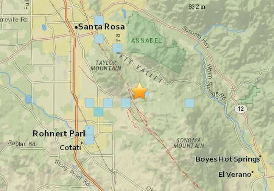 about a dozen people reported in to the usgs that they had felt the shaking within earthquake