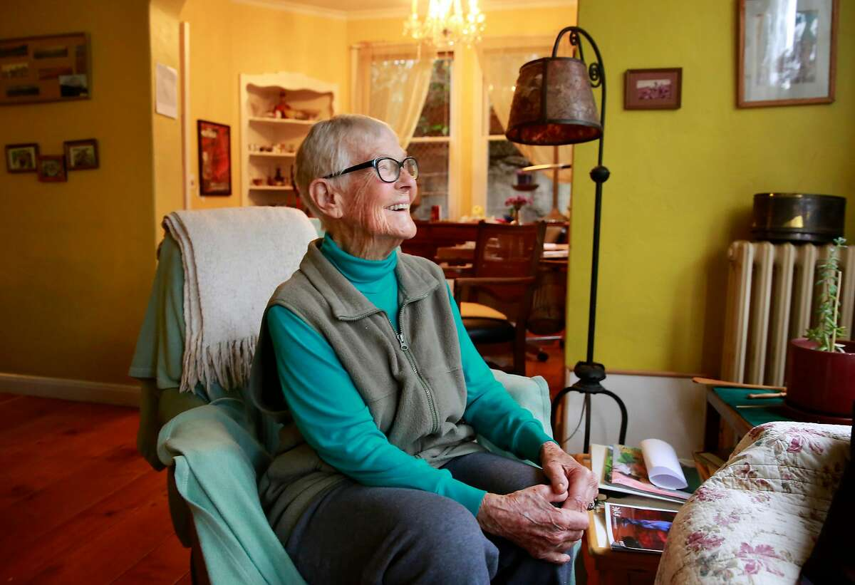 93-year-old dancer Judy Job at her home in Oakland, Ca. on Wed. March 14, 2018.