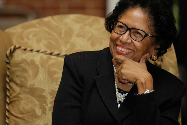 Ruth Simmons, president of Prairie View A&M University, watches the black history program at Phillis Wheatley High School, 4801 Providence in Houston, before her keynote speech in this Tuesday, Feb. 27, 2018, file photo. Simmons became the first black person to lead an Ivy League institution when she became president of Brown University in 2001. She is an alumni of Wheatley.