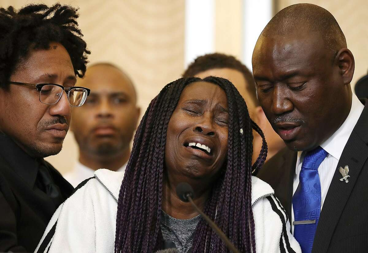 Sequita Thompson is the grandmother of Stephon Clark, who was shot and killed by Sacramento police. She called for justice during a news conference with civil rights attorney Ben Crump on March 26, 2018 in Sacramento.