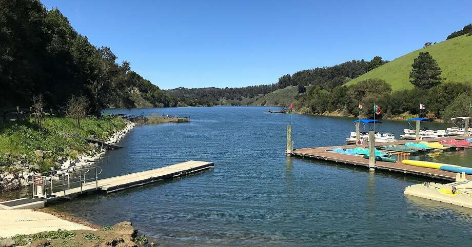 Lake Chabot is 89% full, temperatures are forecast to rise into the 70s as spring takes hold for boating, fishing, hiking and biking on the gorgeous lake in Castro Valley that had a recent 1,000-pound trout plant. Photo: David Smith / Special To The Chronicle