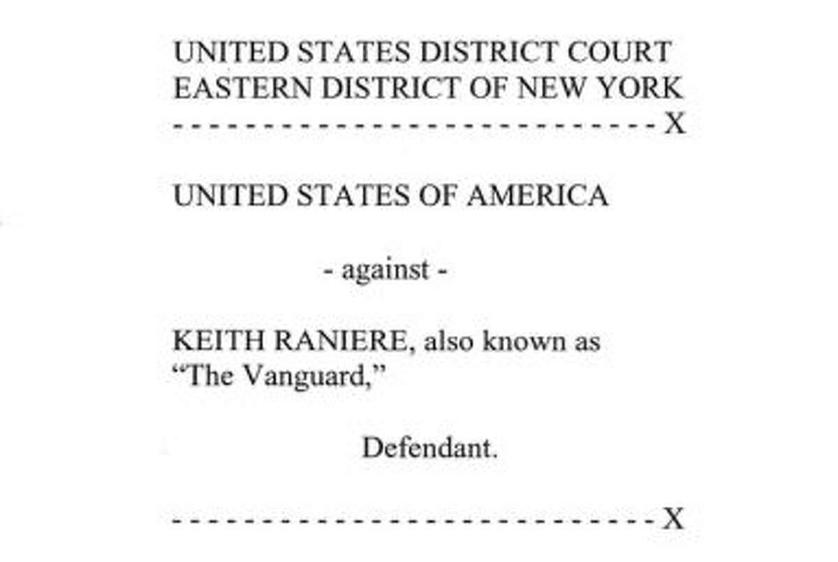 Federal complaint against Keith Raniere and NXIVM