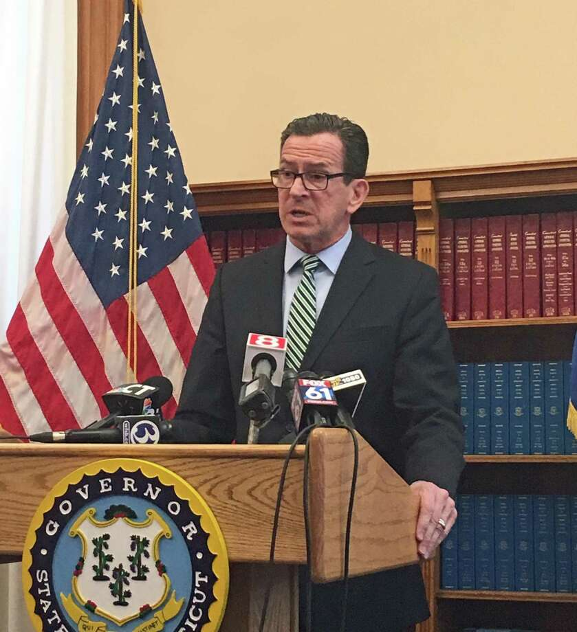 Governor Dannel P. Malloy announced Senate Republicans will vote as a bloc against Supreme Court Justice Andrew McDonald's nomination to chief justice -- and his extreme dismay -- in a press conference at the Capitol in Hartford, Conn. on Monday March 26, 2018. Photo: Emilie Munson