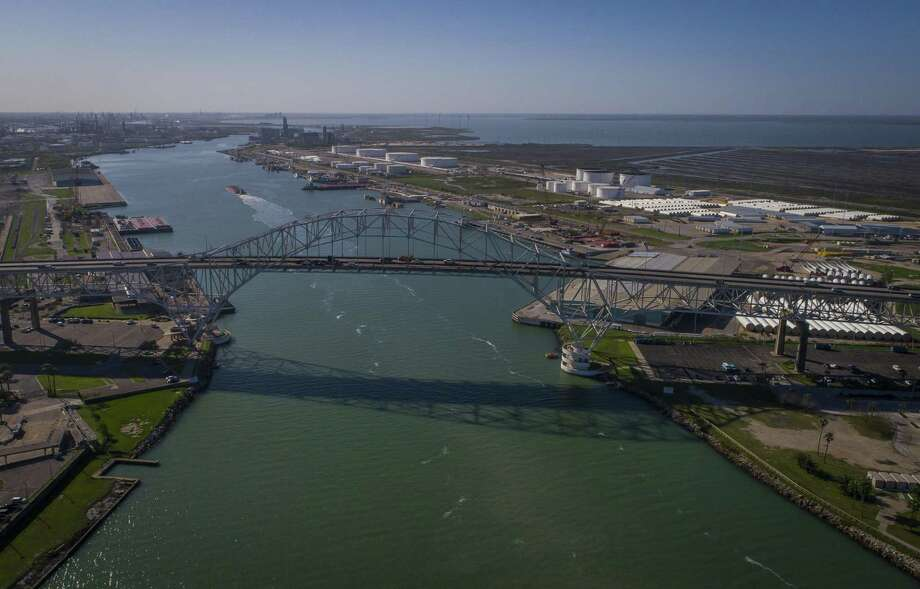 The Harbor Bridge crosses over the Port of Corpus Christi, where billions of dollars are being invested to export Texas energy products. Photo: Mark Mulligan, Houston Chronicle / Houston Chronicle / © 2018 Houston Chronicle