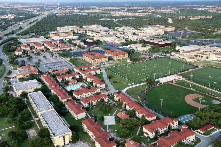 Aerial view of the University of Texas at San Antonio main campus