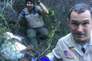 Law enforcement and rescue agencies in Marin County collaborated to save Gracie, a lost dog.