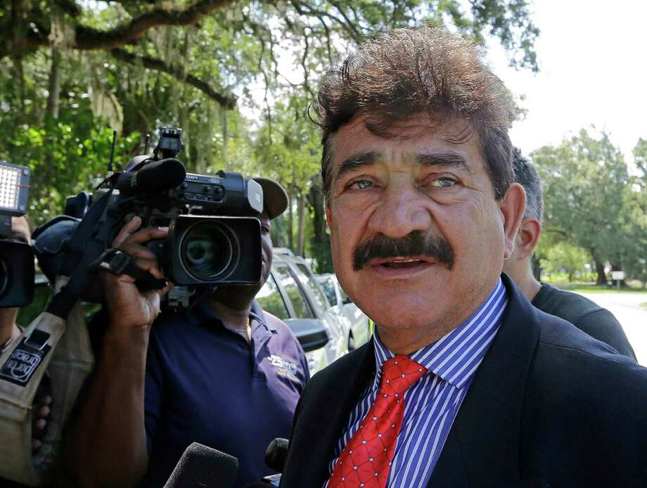 FILE- In this June 15, 2016 file photo Seddique Mir Mateen, father of Omar Mateen, the shooter of the Pulse nightclub massacre, talks to reporters in Fort Pierce, Fla. Lawyers for Noor Salman, the widow of the Pulse nightclub shooter, say they've only just been told that the attacker's father was an FBI informant for 11 years. The attorneys are seeking a mistrial in her case. (AP Photo/Alan Diaz, File) Photo: Alan Diaz / Copyright 2018 The Associated Press. All rights reserved.