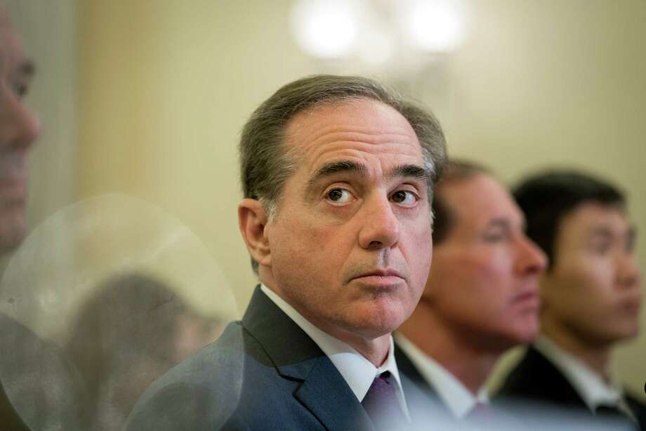 David Shulkin, the Veterans Affairs secretary, testifies at a Senate Veterans Affairs Committee budgetary hearing, on Capitol Hill in Washington, March 21, 2018. (Erin Schaff/The New York Times) Photo: ERIN SCHAFF / NYTNS